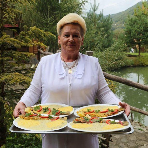 Форельное хозяйство в Косове в Карпатах
