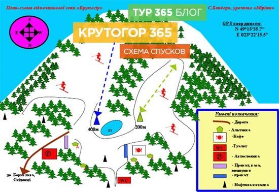 Схема спусков Крутогор365