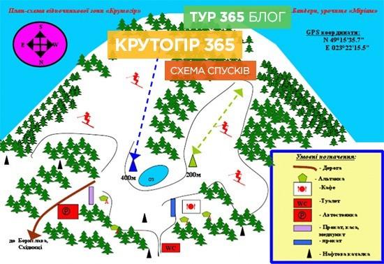 Схема спусків Крутогір365