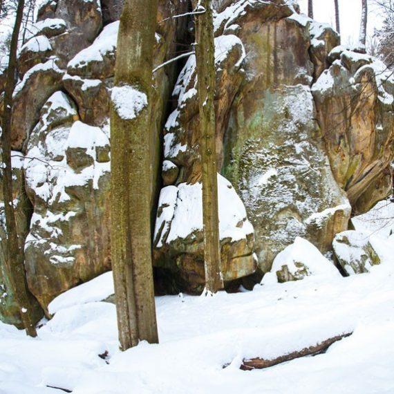 Скалы Довбуша в Карпатах